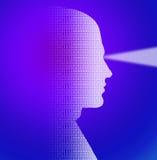 binary głowa ilustracja wektor