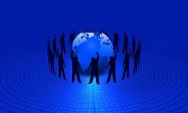 Binary globe Stock Image