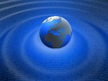 Binary globe Royalty Free Stock Photo