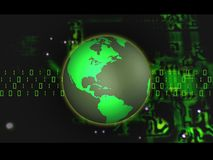 Binary Globe Royalty Free Stock Image