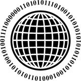Binary globe Stock Photography