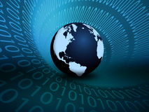 Binary Globe Stock Photo