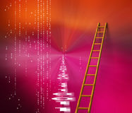Binary landscape. And ladder Royalty Free Stock Image