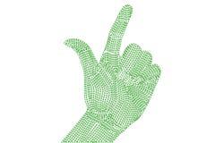 Binary left hand. Royalty Free Stock Photo