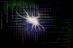 Binary Lightning Burst. This image consists of binary code and matrix style letters Royalty Free Stock Images