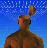 Binary Man Opened Mind Stock Images