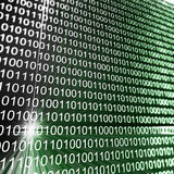 Binary matrix array Stock Photo