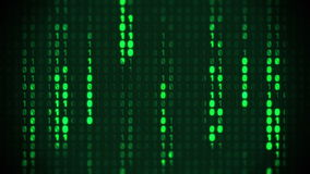 Binary Matrix Background stock video footage