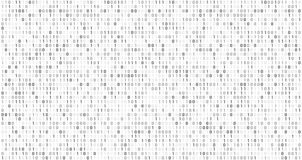 Binary matrix code. Computer data stream, digital security codes and gray coding information abstract vector background. Binary matrix code. Computer data stream vector illustration
