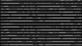 Binary matrix. Code seamless loop video footage. Zeros and ones stock illustration