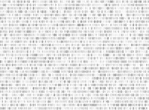Binary matrix computer data code vector seamless background. Binary code for programming, illustration of digital code Royalty Free Stock Photography