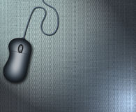 Binary Mouse. Binary code & mouse on metallic surface Stock Illustration