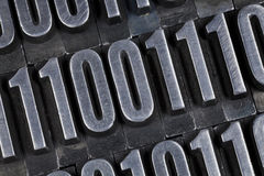 Binary numbers abstract Royalty Free Stock Photo