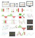 Binary options icons. Vector illustrations. Binary options icons set. Vector illustrations Stock Image