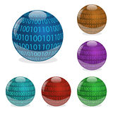 Binary Orbs Stock Image