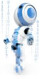 Binary Robot Stock Photography