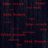 Binary scan virus, data breach, cyber attack.. Technology web infection detected illustration. Vector Stock Photography