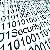 Binary security. Security Concept: 3d binary code Stock Images