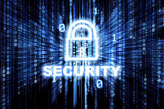 Binary Security Lock Stock Photography