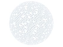 Binary sphere Royalty Free Stock Photos