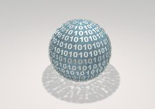 Binary Sphere. On white background Royalty Free Stock Image