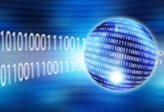 Binary sphere. Sphere with binary digits technology and internet connectivity concept Stock Photo