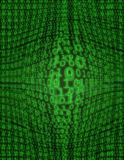 Binary Swell (with glow). A beautifully detailed image of binary code Stock Images