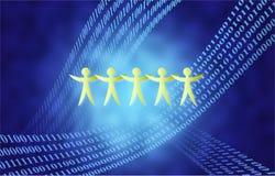 Binary team Royalty Free Stock Image