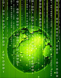 Binary technology. Binary data flowing ,tech concept Royalty Free Stock Images