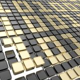 Binary technology background: ones and zeros. Binary technology background: golden ones and zeros made of glossy square fragment plates Royalty Free Stock Image