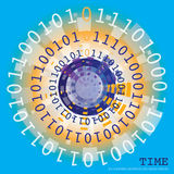 Binary time Stock Photography