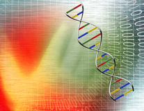 Binary tunnel and DNA Royalty Free Stock Photos