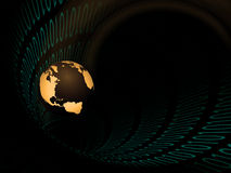 Binary Tunnel Earth Stock Photo