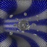 Binary tunnel with email coming through Stock Image