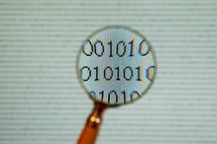binary up zamknięty Zdjęcie Stock