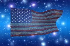 Binary USA Flag Stock Images