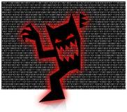 Binary Virus. Virus stepping out of binary code Stock Photography