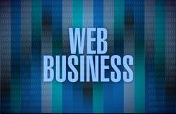 Binary web business illustration design Royalty Free Stock Photos