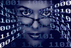 Binary Woman stock images