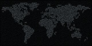 Binary world vector illustration