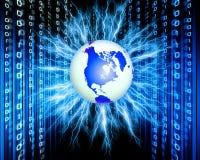 Binary world. Technology,abstract background Stock Photos