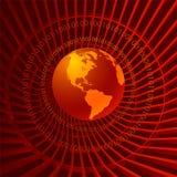 Binary World Stock Photo