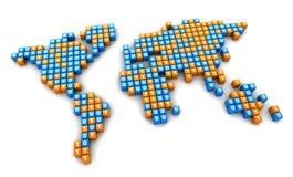 Binary world map Royalty Free Stock Image