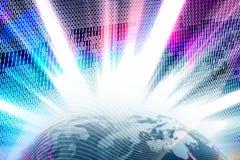 Binary World Wide Web Globe Royalty Free Stock Photos