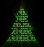 Binary xmas tree Royalty Free Stock Photography