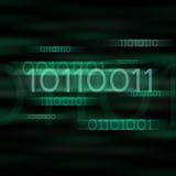 binary zamazywał kod zieleń Obrazy Stock