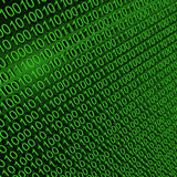 Binary zeros and ones on green background Royalty Free Stock Image
