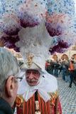 binche carnaval de Arkivbild