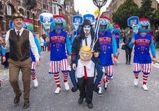 Binchspitzen-Karneval 2017 lizenzfreies stockbild