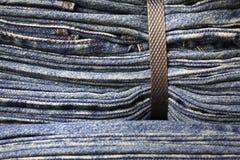 binded голубые джинсы плотные Стоковое Изображение RF
